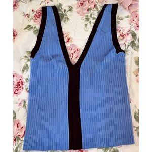 Zara Knit Blue and Maroon Tank 💥markdown💥